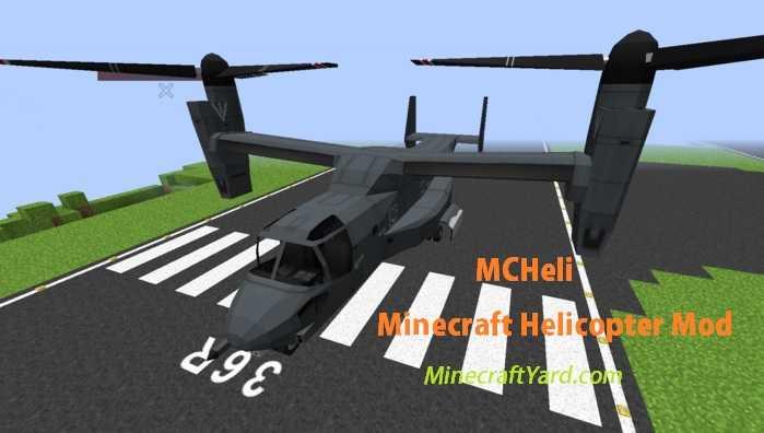 MCHeli Minecraft Helicopter Mod 1.13.1/1.13/1.12.2/1.11.2