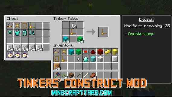 Tinkers' Construct Mod 1.15.2/1.14.4/1.13.2/1.12.2/1.11.2