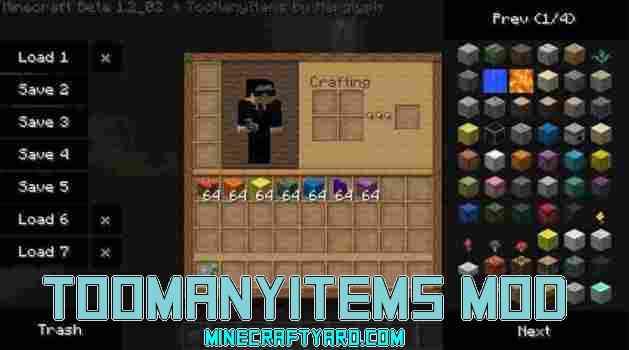 TooManyItems Mod 1.15.2/1.14.4/1.13.2/1.12.2/1.11.2