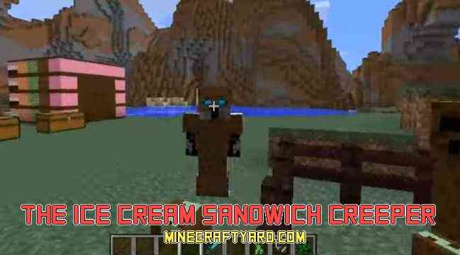 Ice Cream Sandwich Creeper Mod 1.16.2/1.16.1/1.15.2