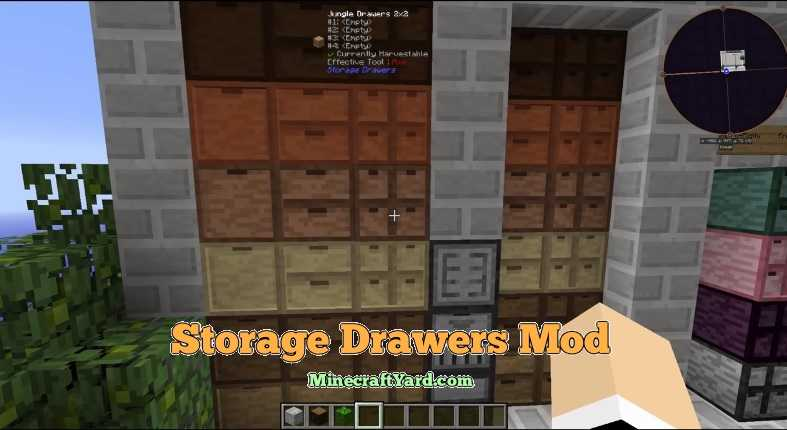 Storage Drawers Mod 1.14.4/1.13.2/1.12.2/1.11.2