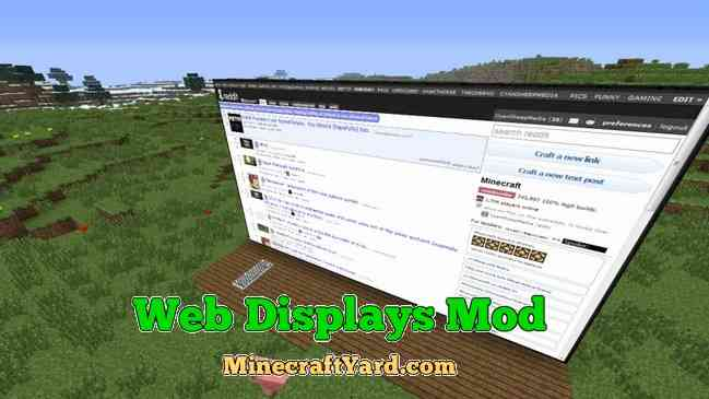 Web Displays Mod 1.14/1.13.2/1.12.2/1.11.2