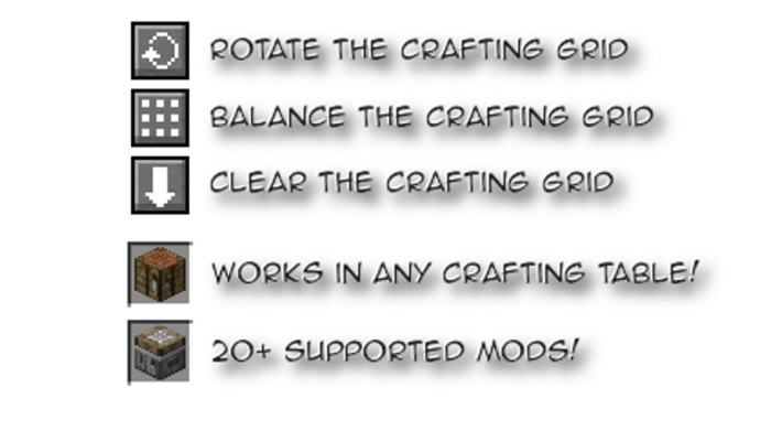 Crafting Tweaks Mod 1.15.1/1.14.4/1.13.2/1.12.2/1.11.2