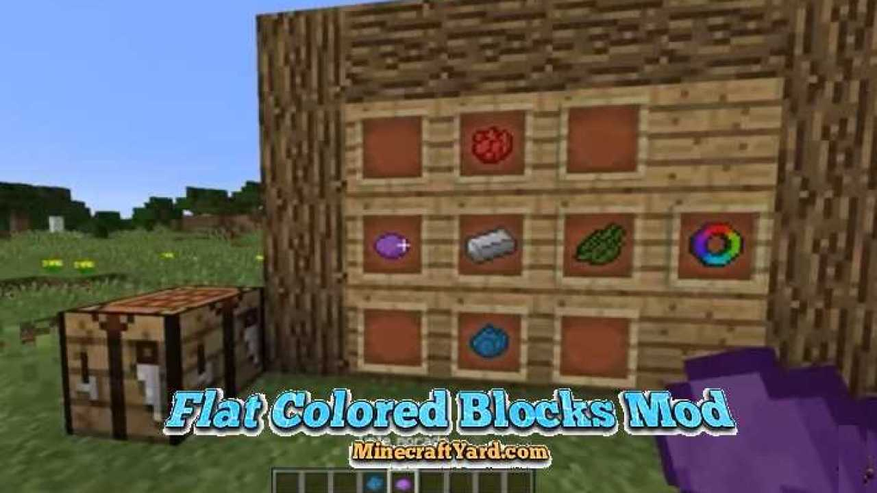 Flat Colored Blocks Mod 1 16 3 1 16 2 1 15 2 1 14 4 Minecraft