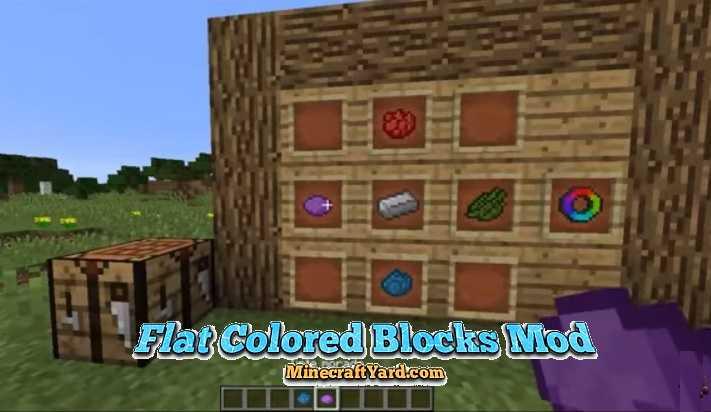 Flat Colored Blocks Mod 1.16.5/1.15.2