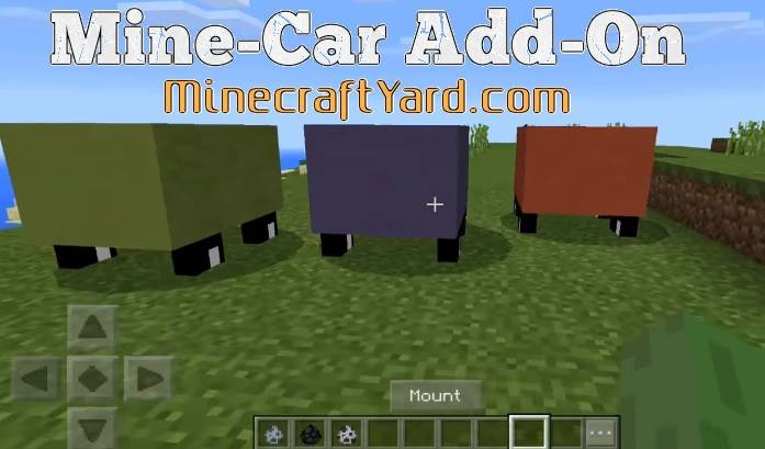 Mine-Car Add-on MCPE 1.12.1/1.12.0/1.11.4