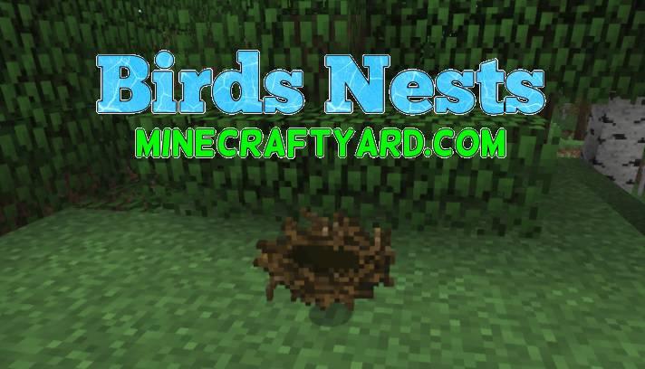 Birds Nests Mod 1.14/1.13.2/1.12.2/1.11.2