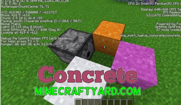 Concrete Mod 1.16.5/1.15.2