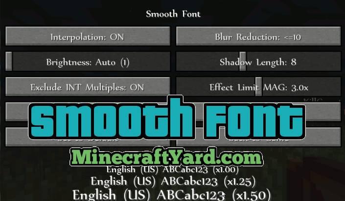 Smooth Font Mod 1.14.3/1.13.2/1.12.2/1.11.2