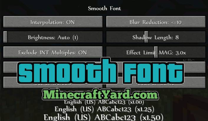Download Smooth Font Mod 1.14.4/1.13.2/1.12.2/1.11.2/1.10.2 ...