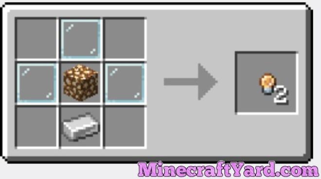 Extended Lights Mod glowstone blub crafting