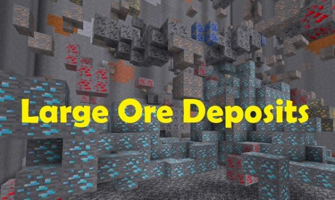 Large Ore Deposits Mod 1.15.2/1.14.4