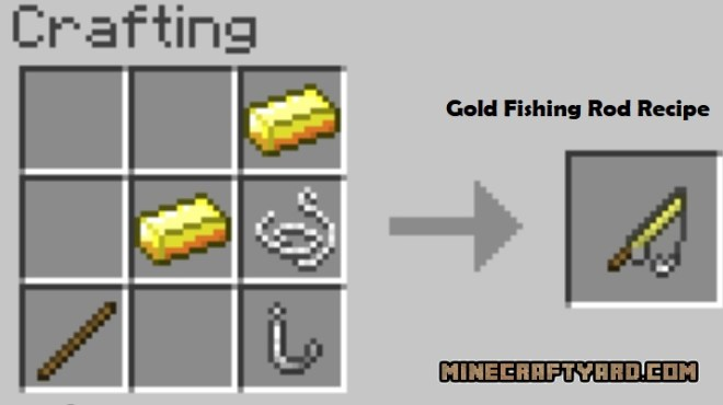 Just a few fish Mod gold fishing rod recipe