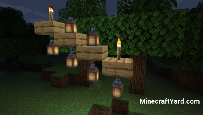 Torch Slabs Mod torch and lantern half slab