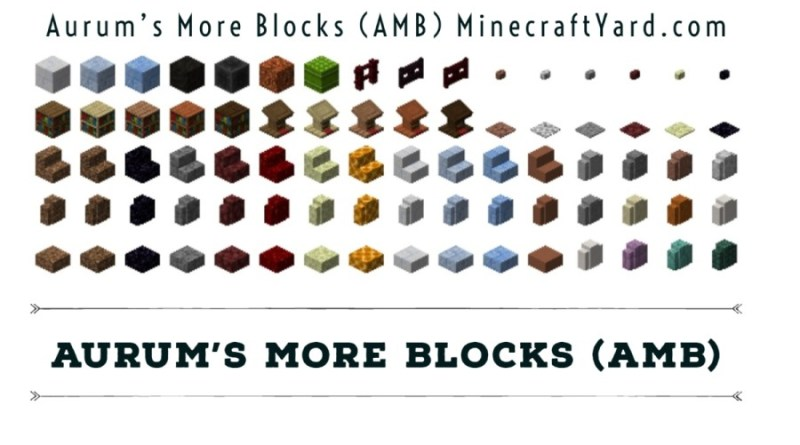 Aurum's More Blocks (AMB) 1.16.3/1.15.2