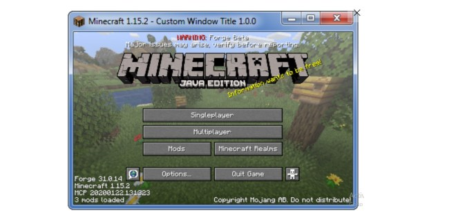 Custom Window Title Forge