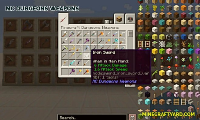 MC Dungeons Weapons Mod 11