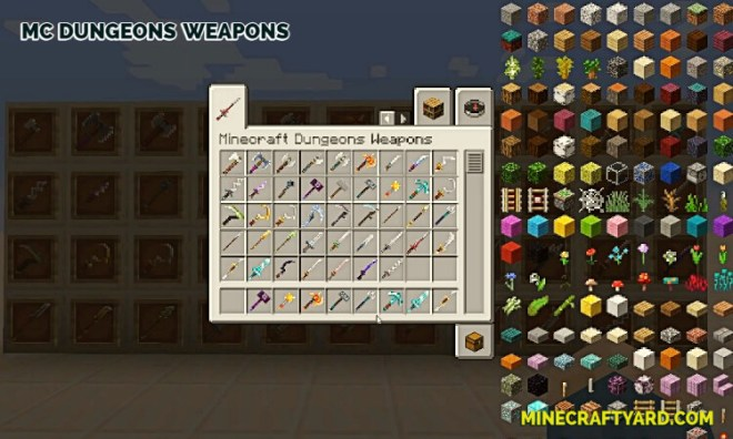 MC Dungeons Weapons Mod 10