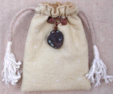pomegranate dyed hemp bag