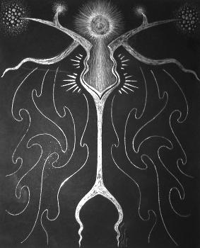 silver scratchboard wand