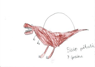 Dječji crteži dinosaura