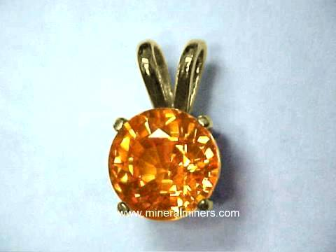 Mandarin Garnet Earrings And 14k Gold Spessartite Jewelry