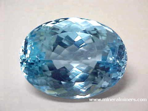 Topaz Gemstones Sky Blue Colorless And Natural Golden