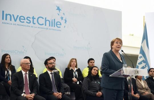 Gobierno lanza Agencia de Promoción de Inversiones en instalaciones de Atlas Copco Chilena
