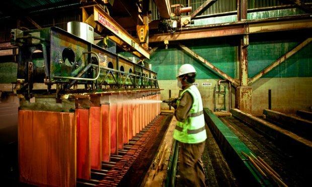 Perú desplaza a China como segundo productor de cobre