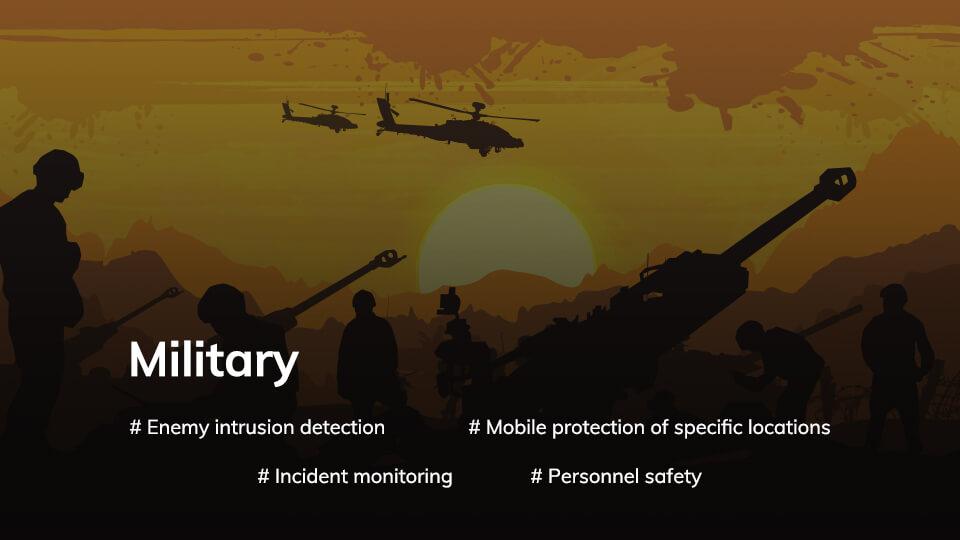 Wireless application scenario 4 Military