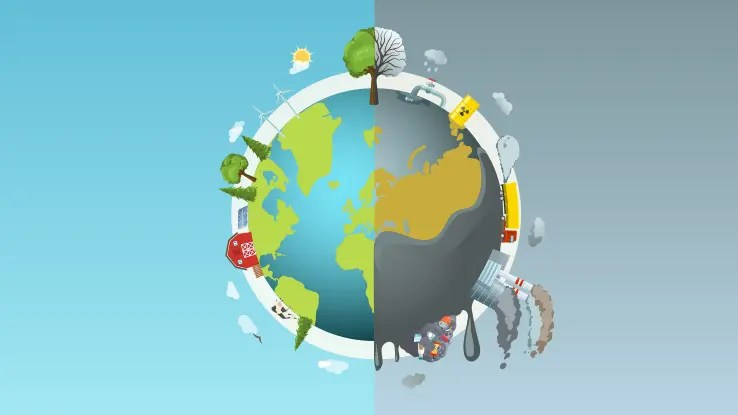 pollution-round-concept