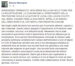 Post pubblicato dal sindaco Monopoli
