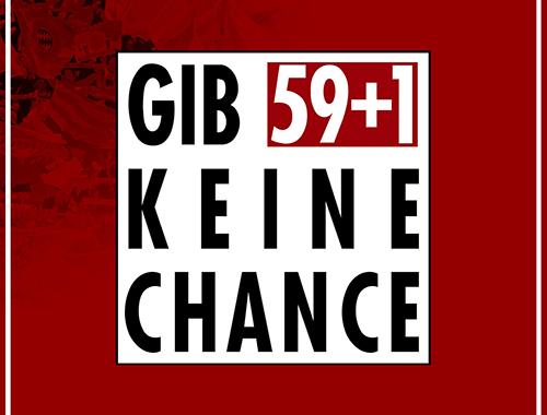 Gib 59 plus 1 keine Chance Motiv