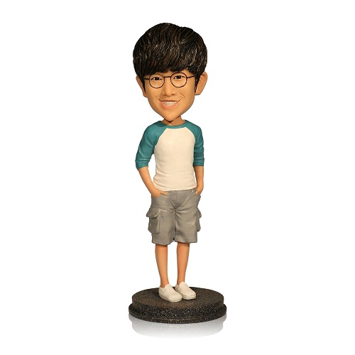personalized casual men bobble head dolls