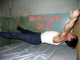 酷刑演示:抻床