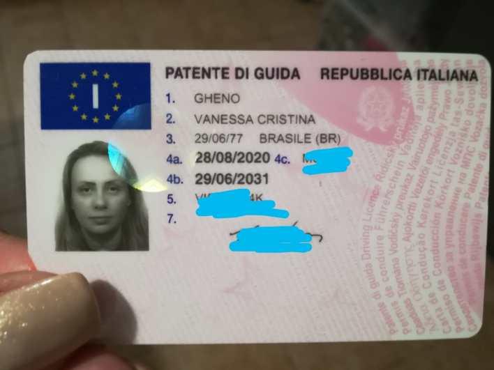 download Conversão da minha carteira de motorista Brasileira para Italiana.