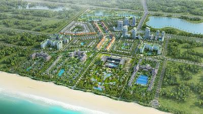 """Sonasea Villas & Resort sở hữu một ví trí đắc địa nhất về phong thủy """"Lưng tựa núi, mặt hướng biển"""""""