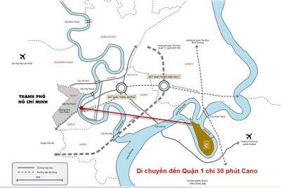 Vị trí Đại Phước Lotus tiếp giáp với Quận 2 và Quận 9