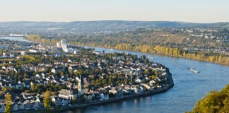 Coblence et le Rhin