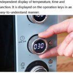 LBSX 45L informatisé Mini Four température réglable 30-230 ℃ et 120 Minutes minuterie Multifonction air Chaud Circulation/Basse température Fermentation/Four Lampe électrique Four Double vitrage P