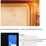 LBSX Smart 28L Mini Four ménages Multi-Fonction Four à Vapeur Tout-en-Un 30 Types de Menu Smart Smart Timing Double Couche en Verre trempé Porte 1.2L Réservoir d'eau avec Accessoires 2050W