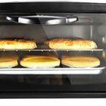 Mini four et gril avec double plaques chauffantes,mini four électrique compact à double boutons,trois niveaux de position de rôtissage ,mini four de cuisson domestique à minuterie de 60 minutes,12L