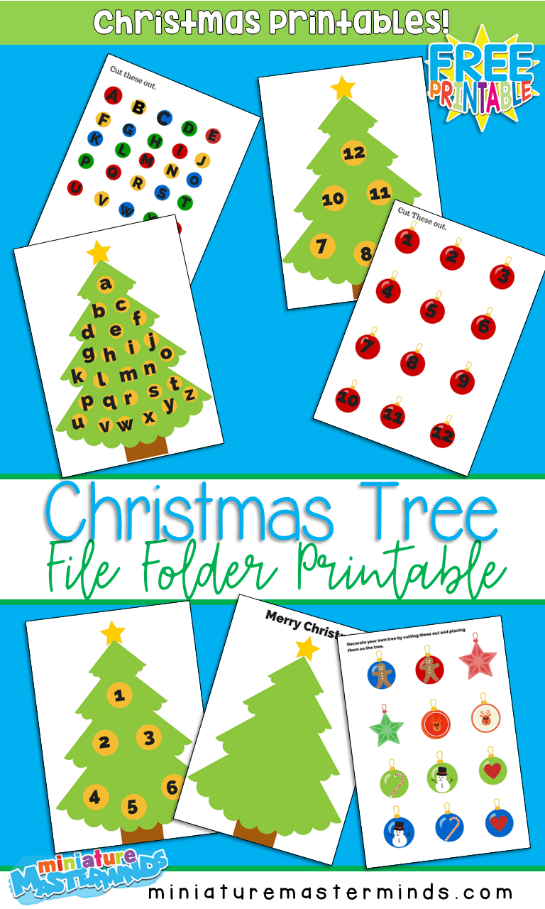 photo relating to Printable File Folder Games titled Beautify a Tree Totally free Printable Quantity and Letter Matching
