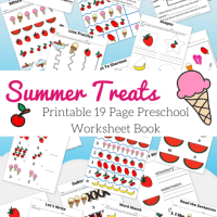Summer Treats Ice Cream and Fruit Preschool Printable Book 19 Pages Free Download