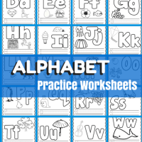 Basic Concept Alphabet Practice Worksheets Free Printables
