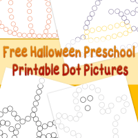 Free Halloween Preschool Printable Dot Pictures