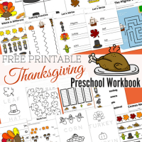 Free Printable Thanksgiving Day Preschool Workbook
