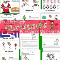 Free Printable Here Comes Santa Claus Preschool Workbook