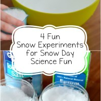 4 Fun Snow Experiments for Snow Day Science Fun