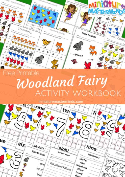 Free Printable Woodland Fairy Activity Workbook